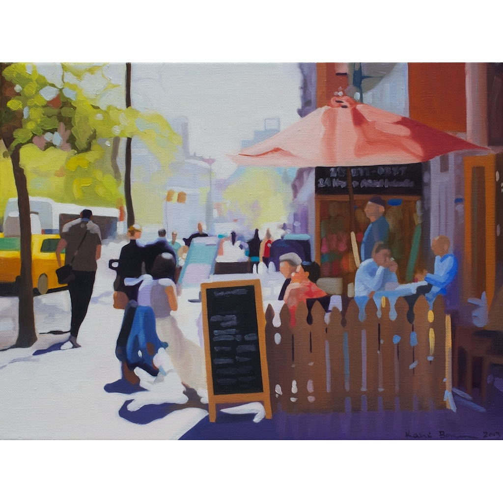 oil on canvas painting of Dining Out by Katrie Bonanno