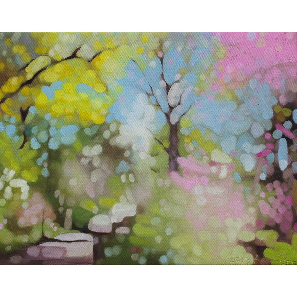 oil on canvas painting of Spring by Katrie Bonanno