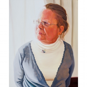 image: oil painting on Masonite by Katrie Bonanno portrait of Joan