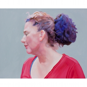 image: oil on masonite painting by artist Katrie Bonanno portrait of Heather