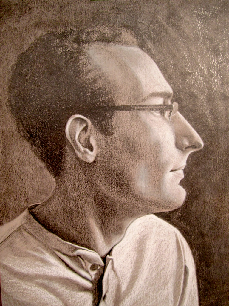 photo: Pencil drawing by Hudson Valley, NY artist Katrie Arena.  Portrait of James Bonanno.  Drawn in 2012. Portrait of James